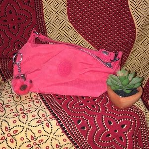 NWOT Rare Kipling Emma Clutch in Dark Salmon/Red
